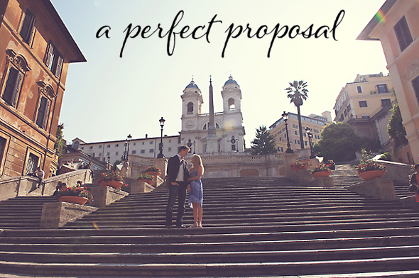 Spanish Steps Proposal Wedding Proposal in Italy   August & Perri