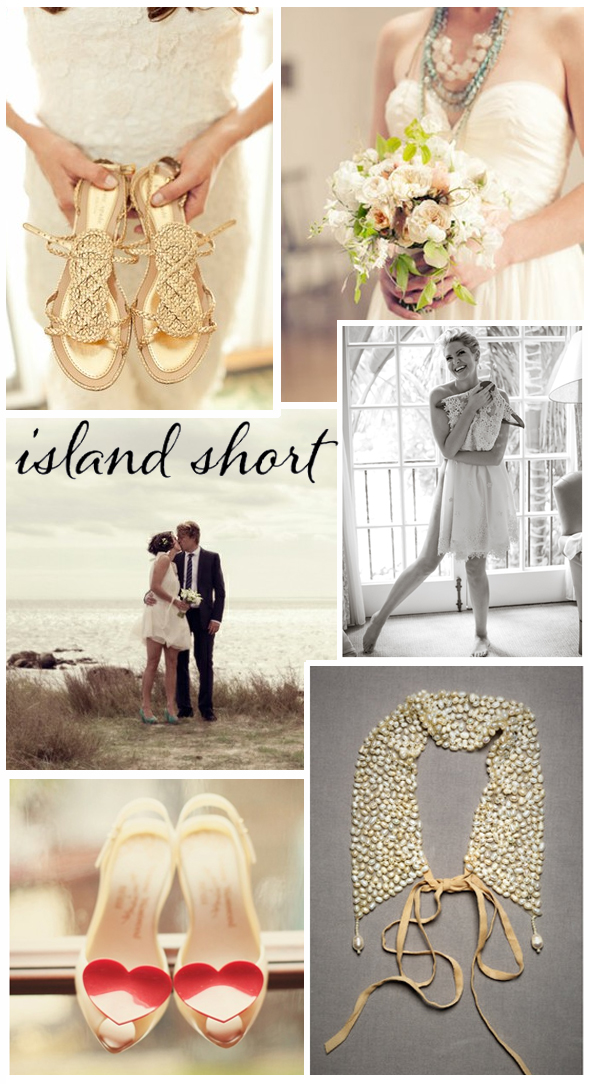 short wedding dress beach