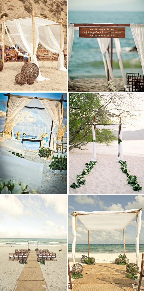 beach wedding arches