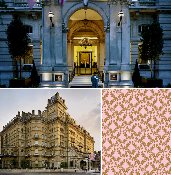 langham hotel london Inspired by the Langham Hotel Wallpaper Pattern