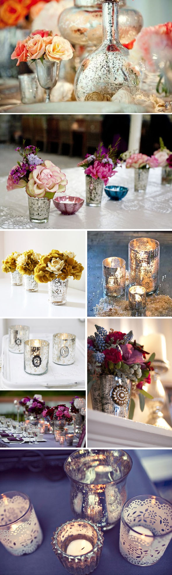 mercury glass weddings Mercury Glass Weddings