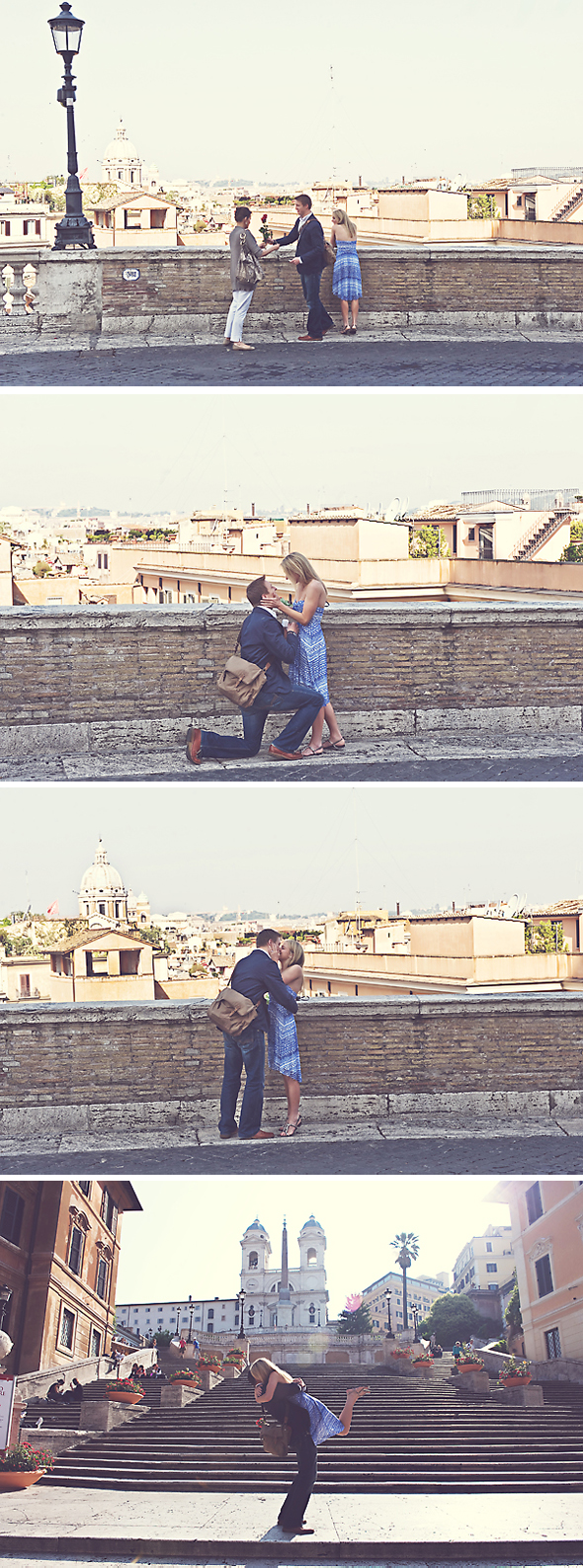 proposal on the spanish steps Wedding Proposal in Italy   August & Perri