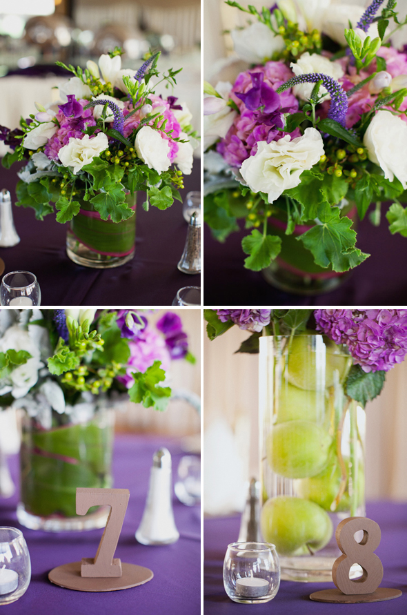 purple wedding flowers Destination Wedding in Las Vegas Sarrah Eric