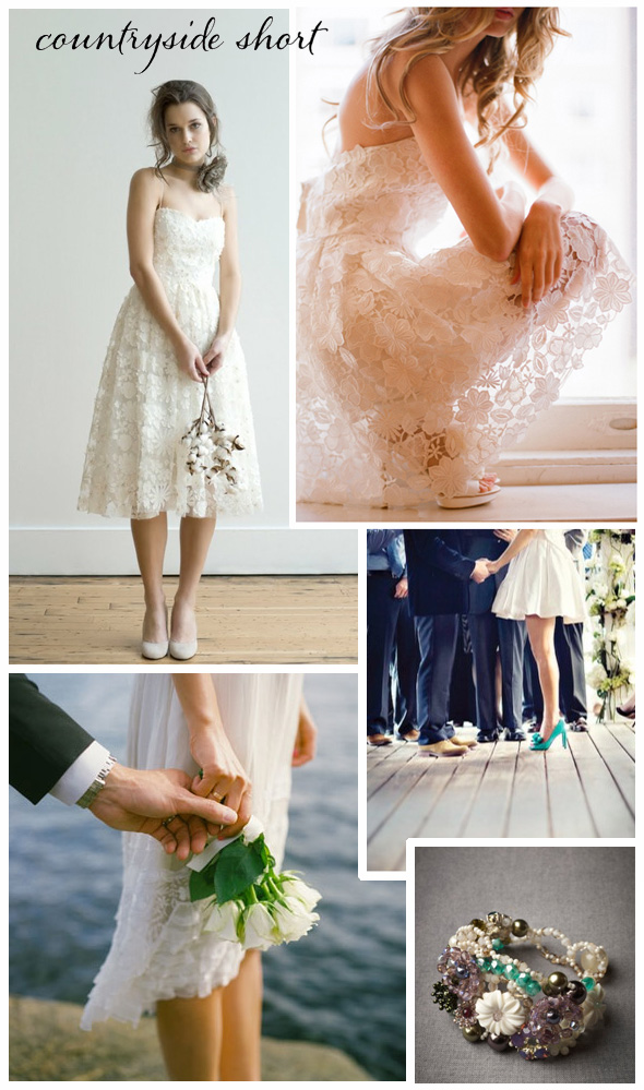 Think BHLDN or Ivy Astor for great dress ideas for a countryside wedding