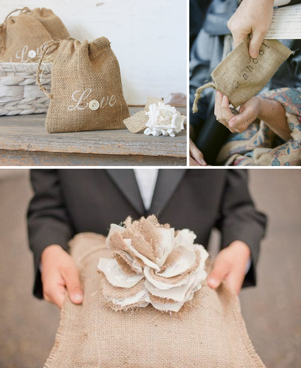 burlap ring pillow Burlap Wedding Ideas