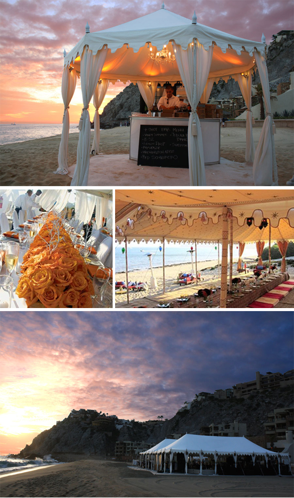 orange wedding tents Destination Wedding Tents Photos All photos via Raj