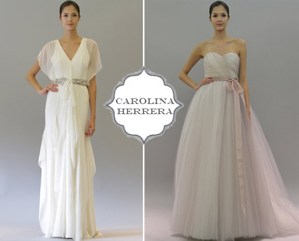 new Carolina Herrera wedding dresses