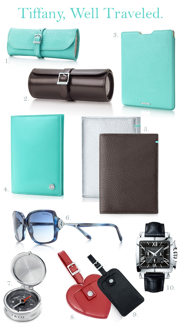 Tiffany travel accessories1 Tiffany & Co Travel Products