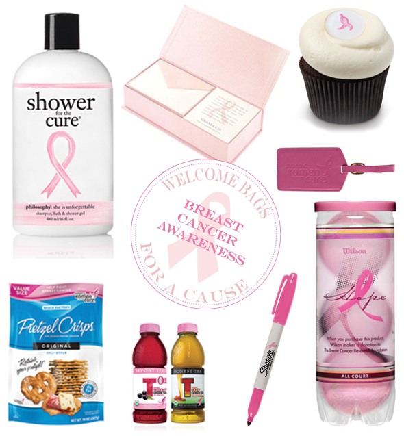 breast cancer awareness month wedding welcome bag3 Welcome Bag Ideas to Support Breast Cancer