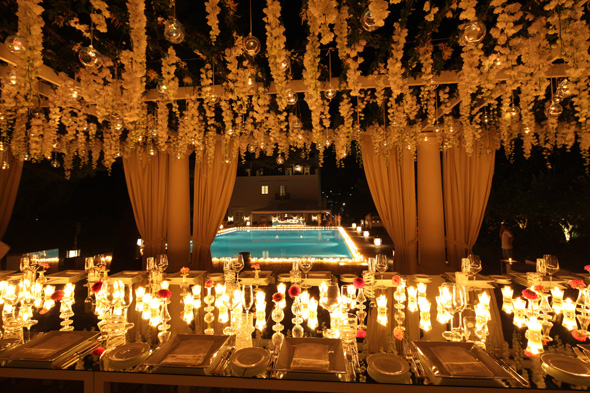 candlelit weddings Celebrity Destination Wedding in Capri, Italy