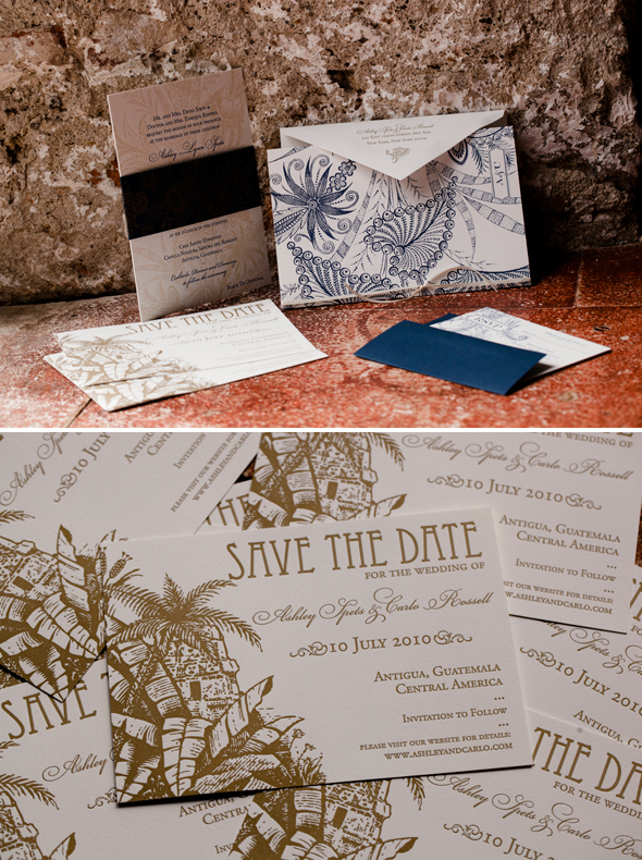 destination wedding invitations Antigua, Guatemala Destination Wedding Re Run