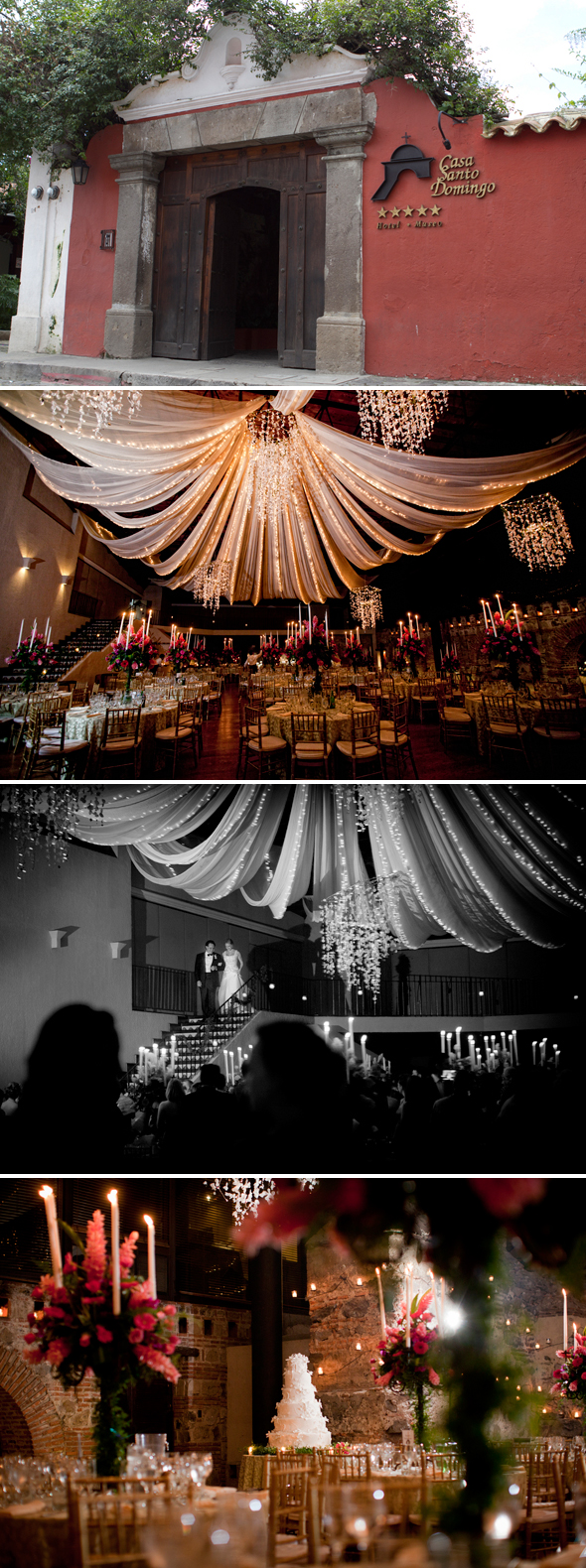 dramatic destination wedding receptions