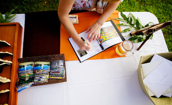 post card guest books