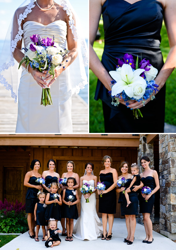 purple and white weddings
