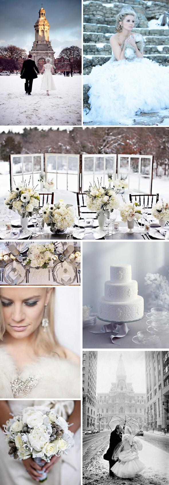 snow weddings Winter Weddings