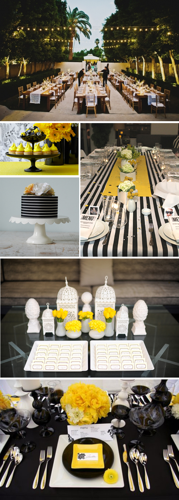 viceroy black white yellow weddings Inspired by the Viceroy Hotel