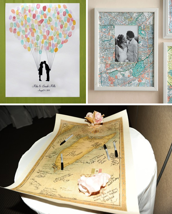 map wedding guest books