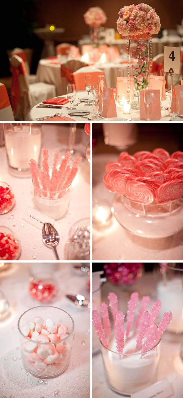 pink and peach weddings