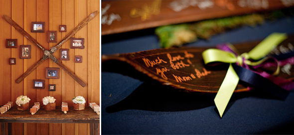 ski wedding guest books