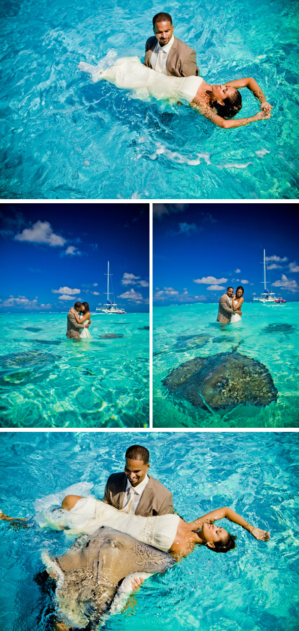 stingray city grand cayman Stingray City, Grand Cayman Trash the Dress