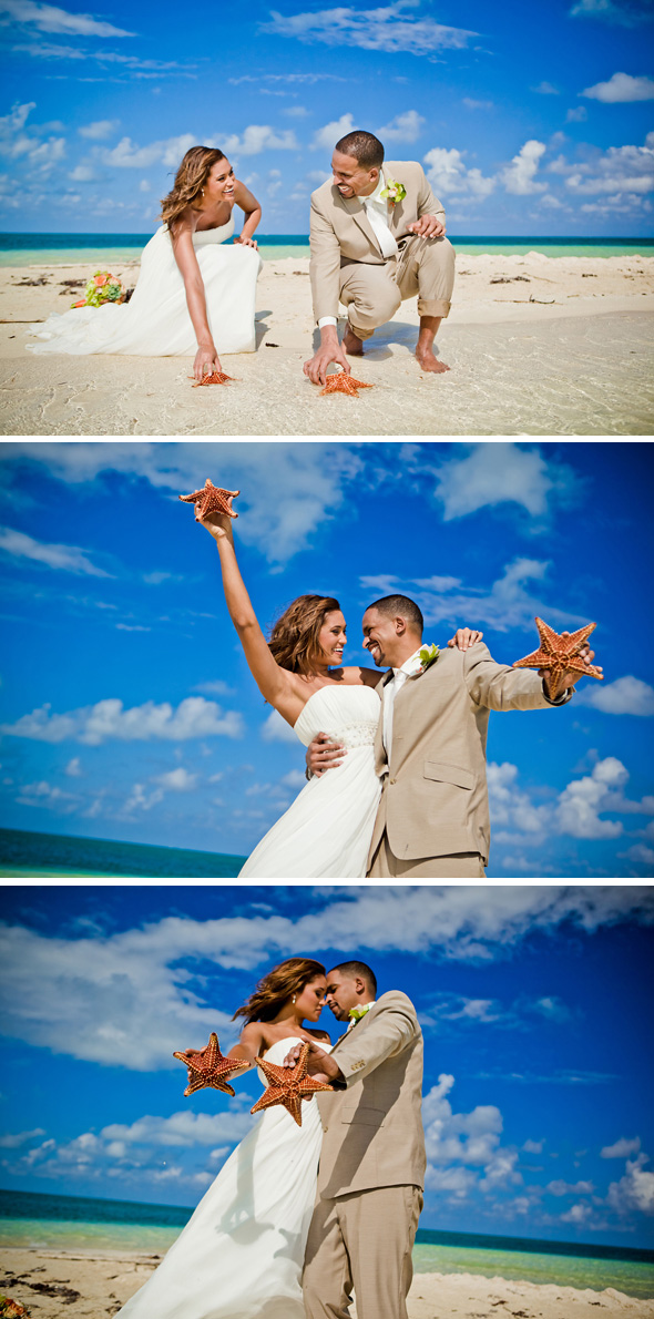 wedding at Starfish Point, Cayman Islands