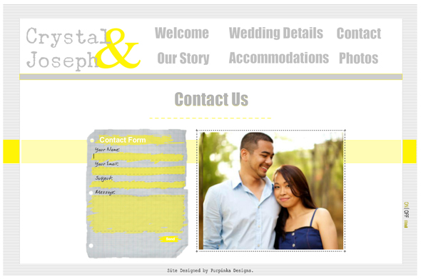 Purpinka Designs Customized Wedding Websites | The Destination