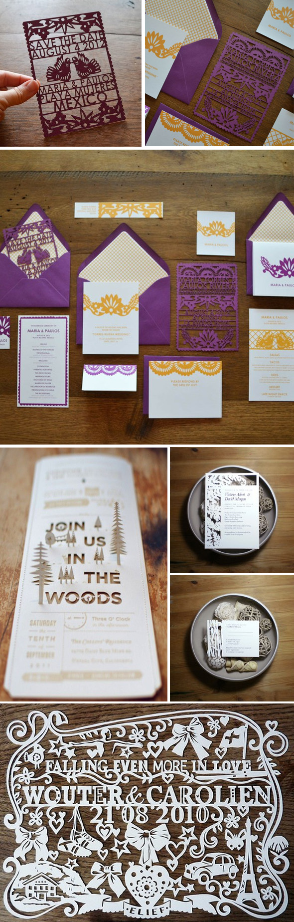 die cut destination wedding invitation