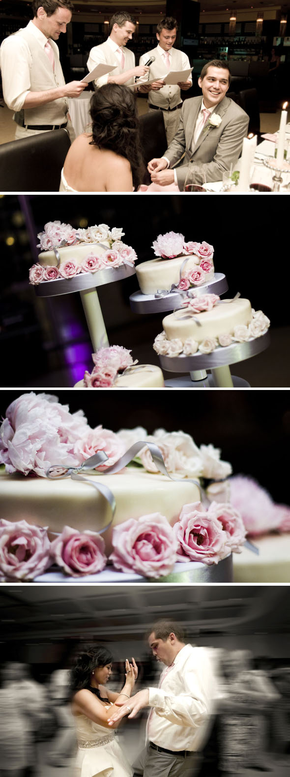 pink and gray weddings