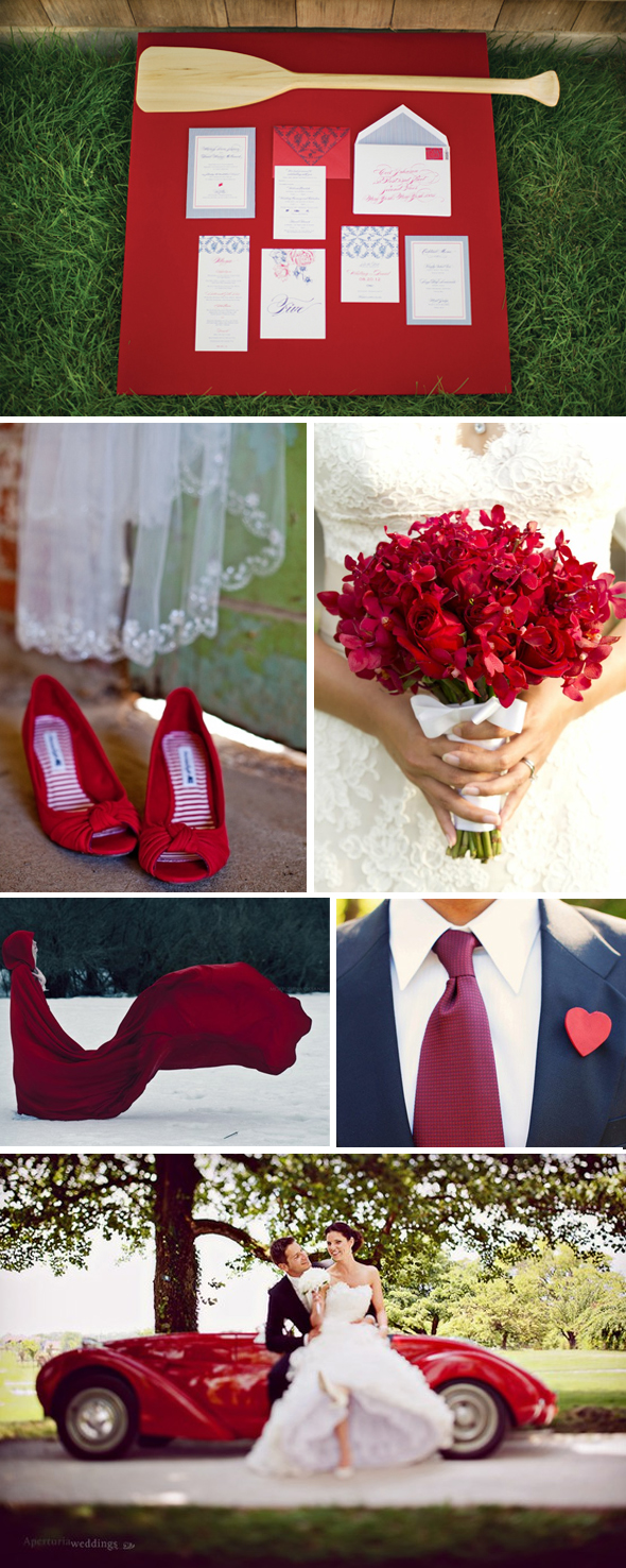 red winter weddings Red Weddings