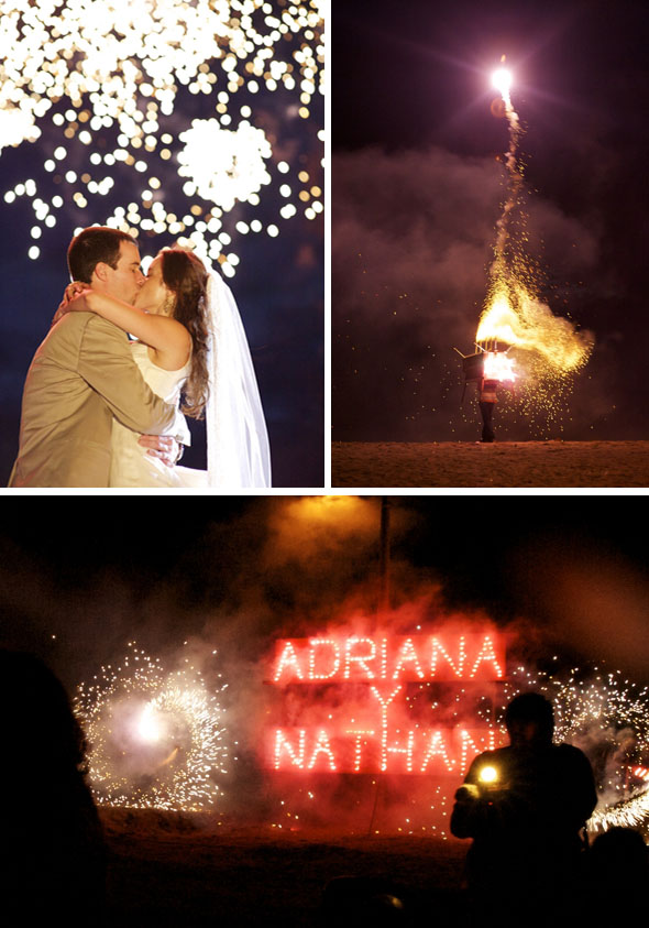 firework weddings