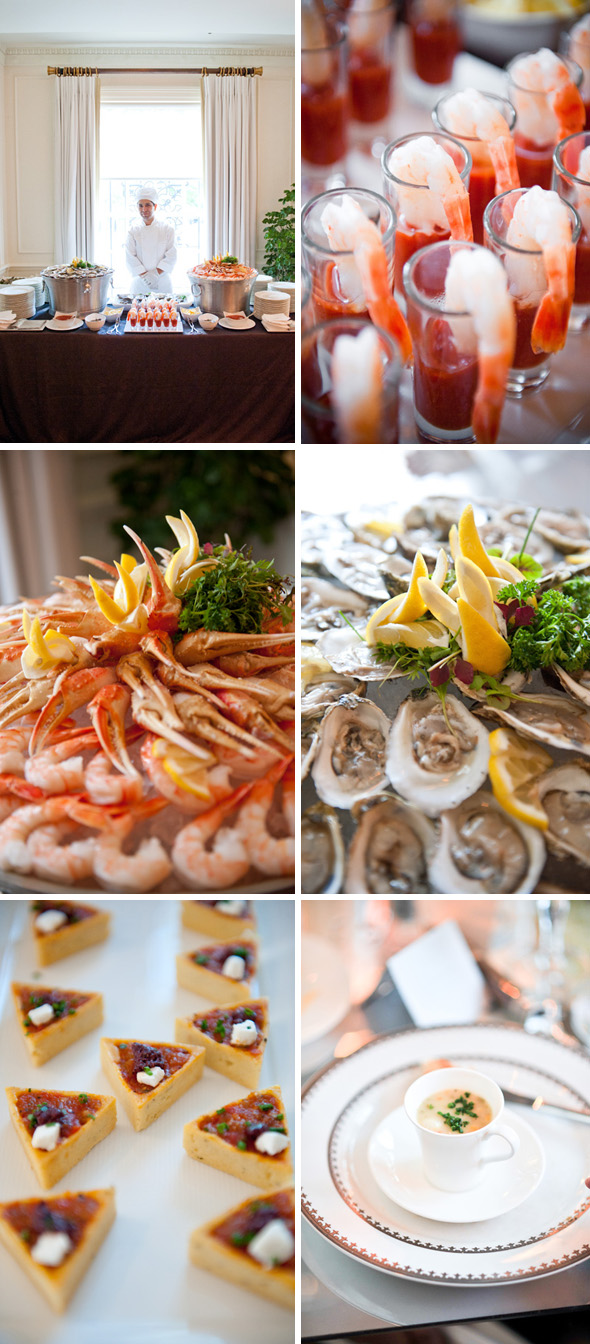 wedding food ideas Hay Adams, Washington DC Wedding