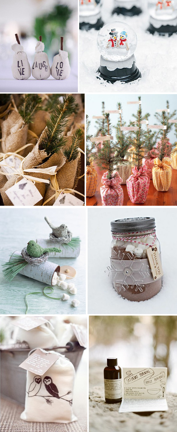 winter wedding favors Winter Wedding Details