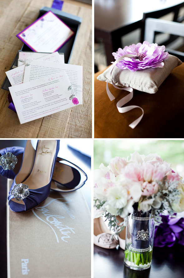 Purple wedding ideas Destination Wedding in Carmel, CA