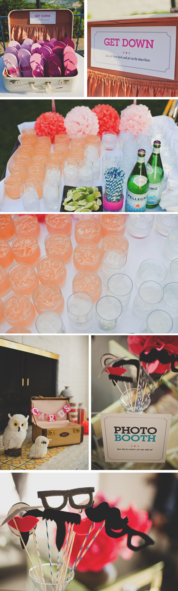 colorful wedding ideas1 The Parker Palm Springs Destination Wedding