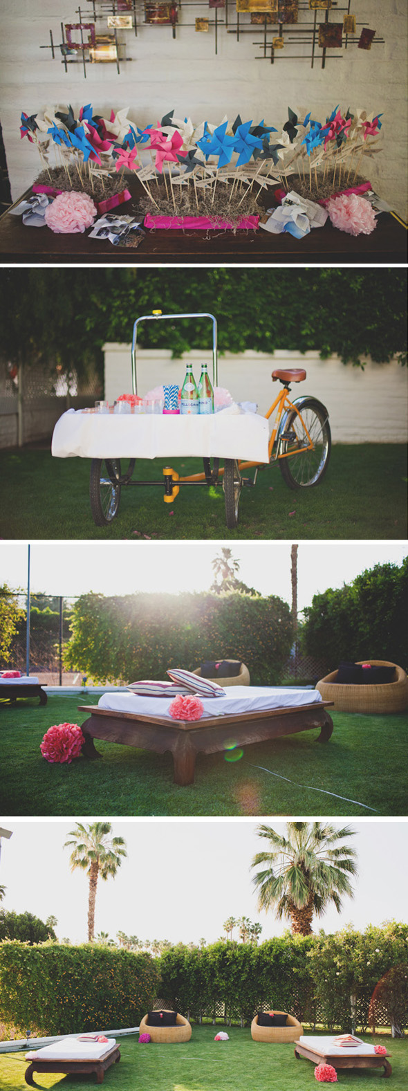 colorful weddings The Parker Palm Springs Destination Wedding