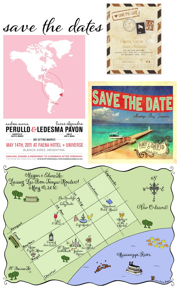 destination wedding maps save the date
