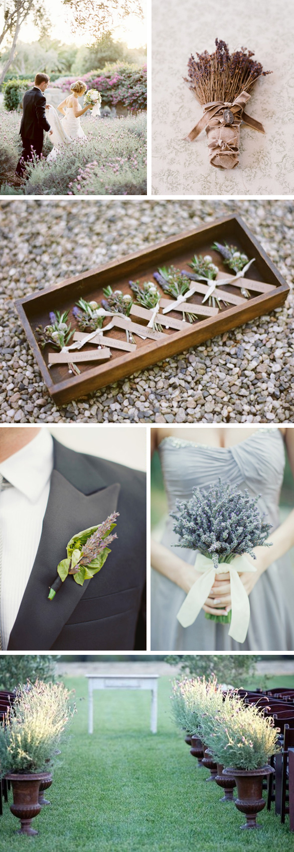 lavender wedding bouquets Lavender Wedding Ideas