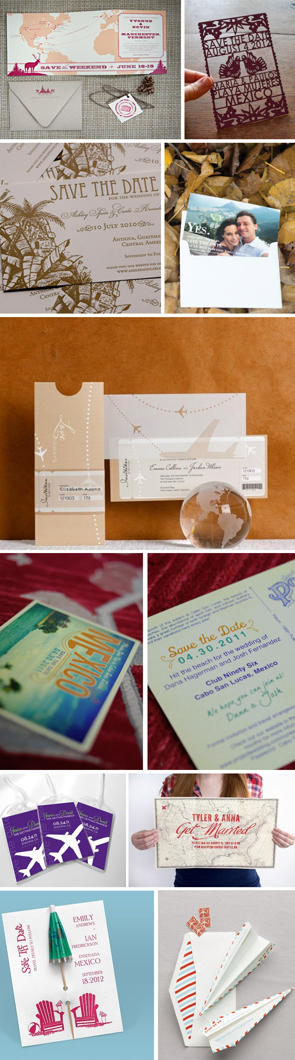 destination wedding save the dates