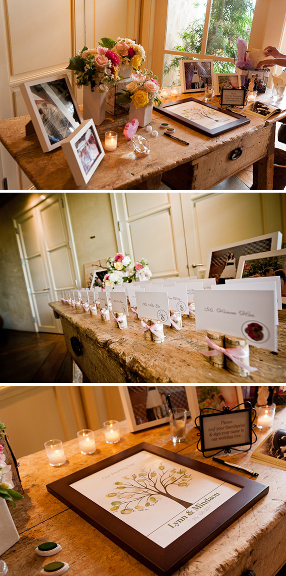 winery wedding guest book