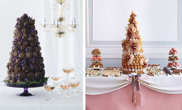 Croquembouche wedding cakes