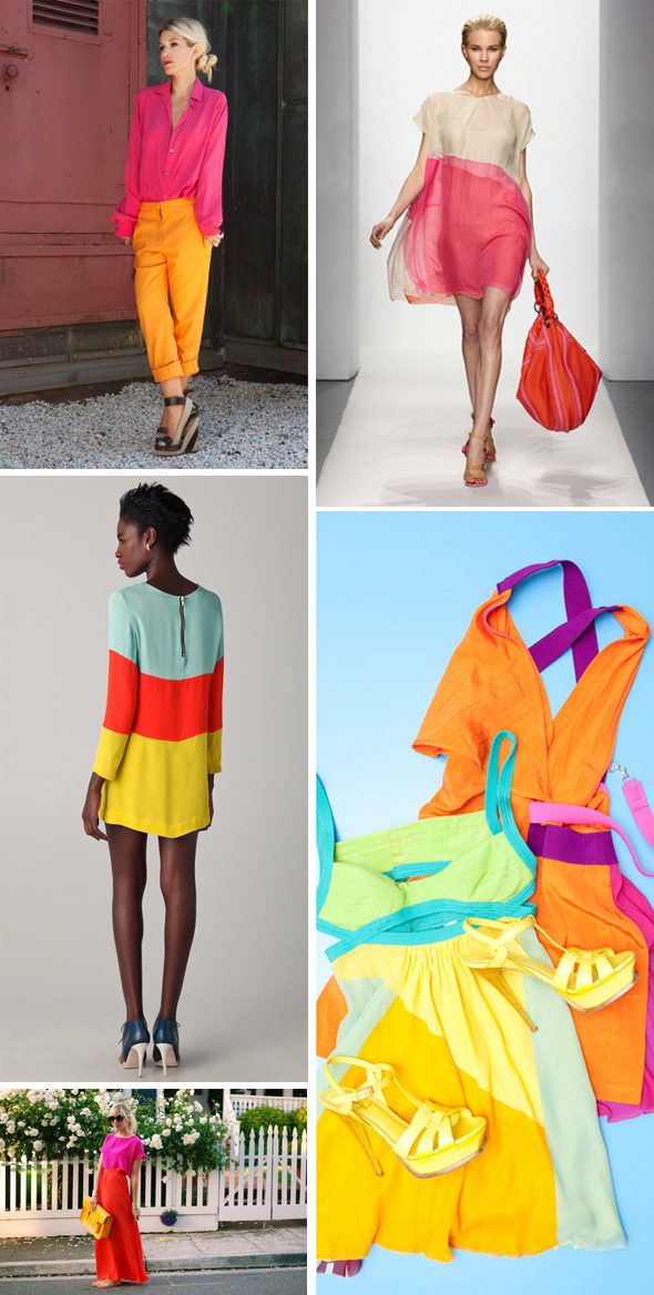 color block honeymoon attire1 Color Blocking Ideas for Your Honeymoon