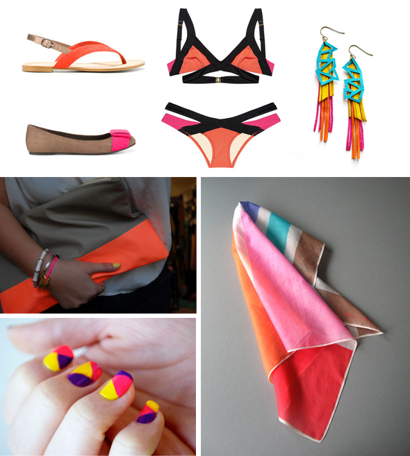 color blocking honeymoon accessories Color Blocking Ideas for Your Honeymoon