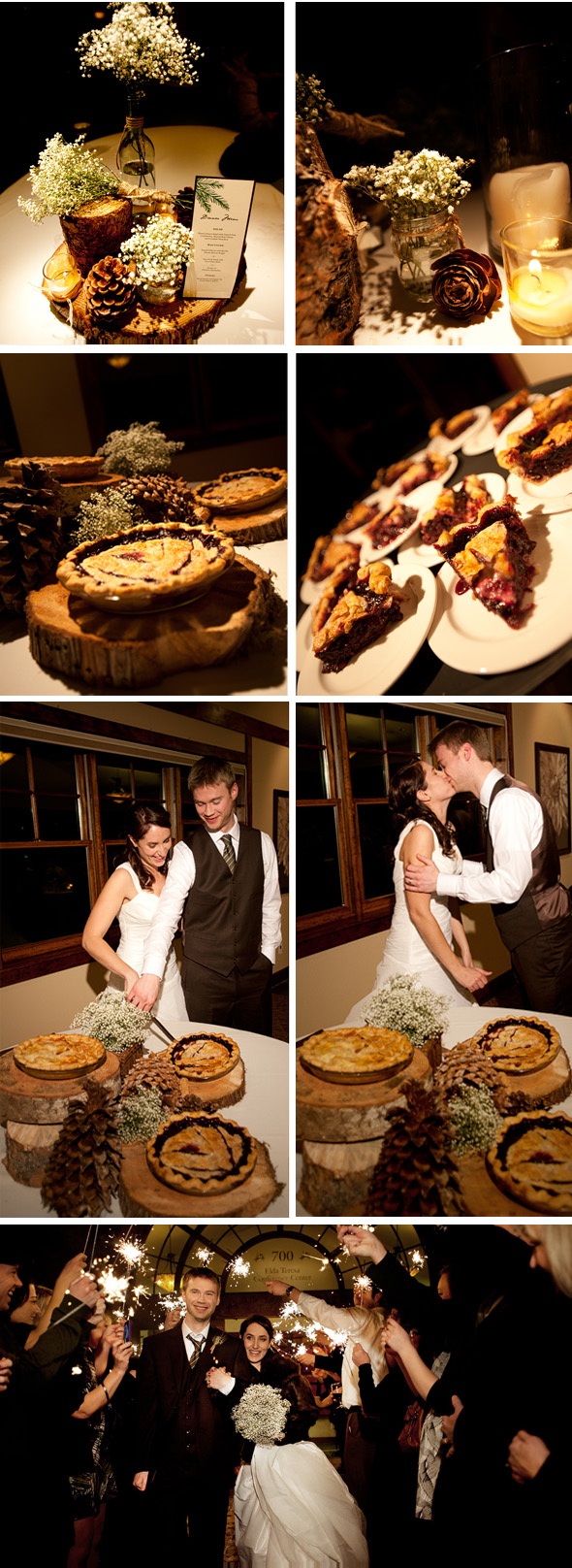 pie bar at wedding