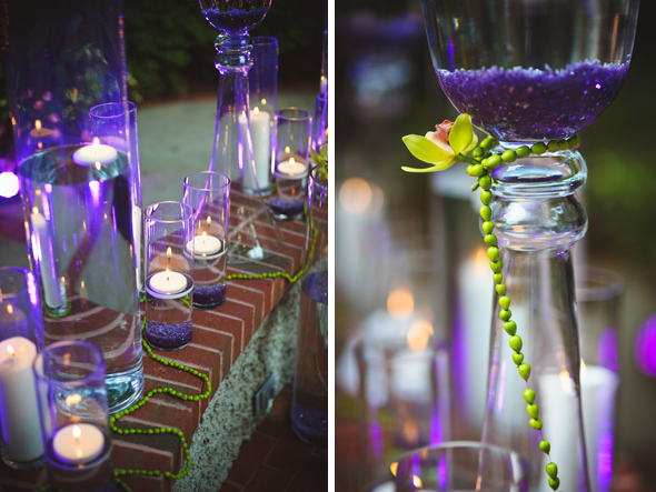 NC 11 purple themed wedding Destination Wedding at the Biltmore Estate