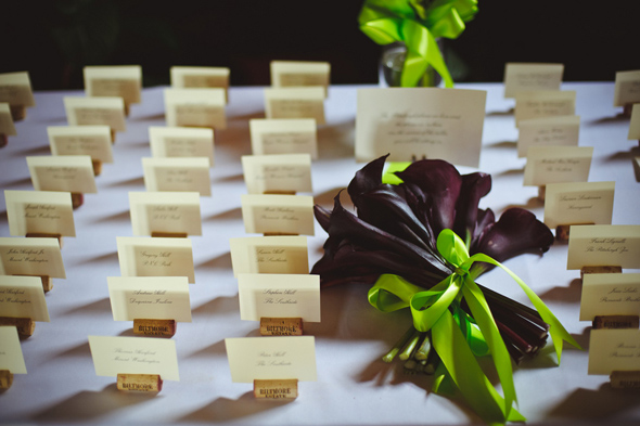 17 wine cork place cards Destination Wedding at the Biltmore Estate, Asheville, NC