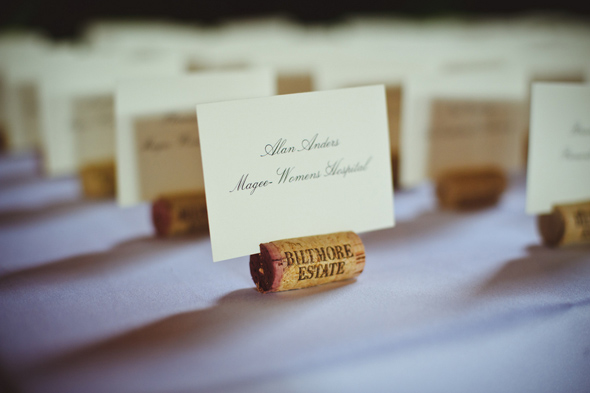18 wine themed place cards Destination Wedding at the Biltmore Estate, Asheville, NC