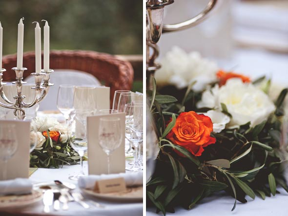 24 orange and white weddings1 Destination Wedding in Majorca, Spain
