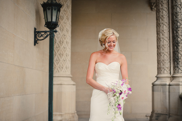 3 orchid bridal bouquet Destination Wedding at the Biltmore Estate, Asheville, NC