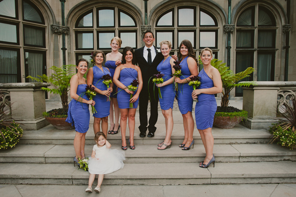 6 purple bridesmaid dresses Destination Wedding at the Biltmore Estate, Asheville, NC