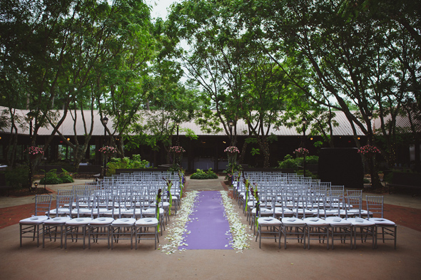 7 purple aisles Destination Wedding at the Biltmore Estate, Asheville, NC